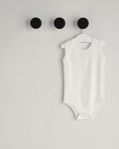 sleeveless bodysuit for baby boys organic cotton